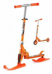Самокат-снегокат с лыжами и колесами Small Rider Combo Runner 145 (оранжевый)