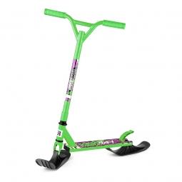 Самокат-снегокат с лыжами и колесами Small Rider Combo Runner BMX зеленый