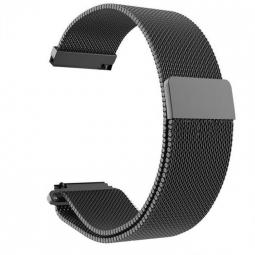 Сменный металлический ремешок для Amazfit Bip (миланское плетение, черный)