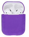 Cиликоновый чехол кейс для airpods (фиолетовый)