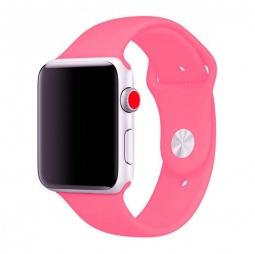 Силиконовый ремешок для Apple Watch 44/42 mm, розовый