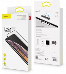 Защитное стекло Baseus Full-screen Curved Tempered для iPhone XS Max (SGAPIPH65-WA01), Черный (Black)