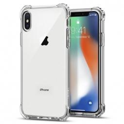 Чехол-накладка для Apple iPhone X (Spigen Rugged Crystal 057CS22117) (кристально-прозрачный)