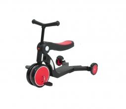 Детский самокат-беговел Xiaomi Bebehoo 5-in-1 Multifunction Stroller, красный