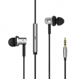 Наушники Xiaomi Mi In-Ear Headphones Quantie (Hybrid Pro) с регулировкой громкости, Silver
