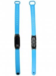 Силиконовый ремешок для Xiaomi Mi Band 2 с металлическим основанием голубой