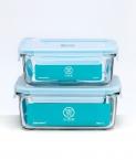 Контейнеры пищевые Xiaomi Mijia Glass Crisper 1100мл + 715мл
