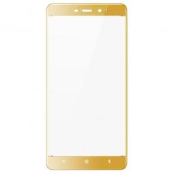 Защитное стекло 3D для Xiaomi Redmi 4 Золотое